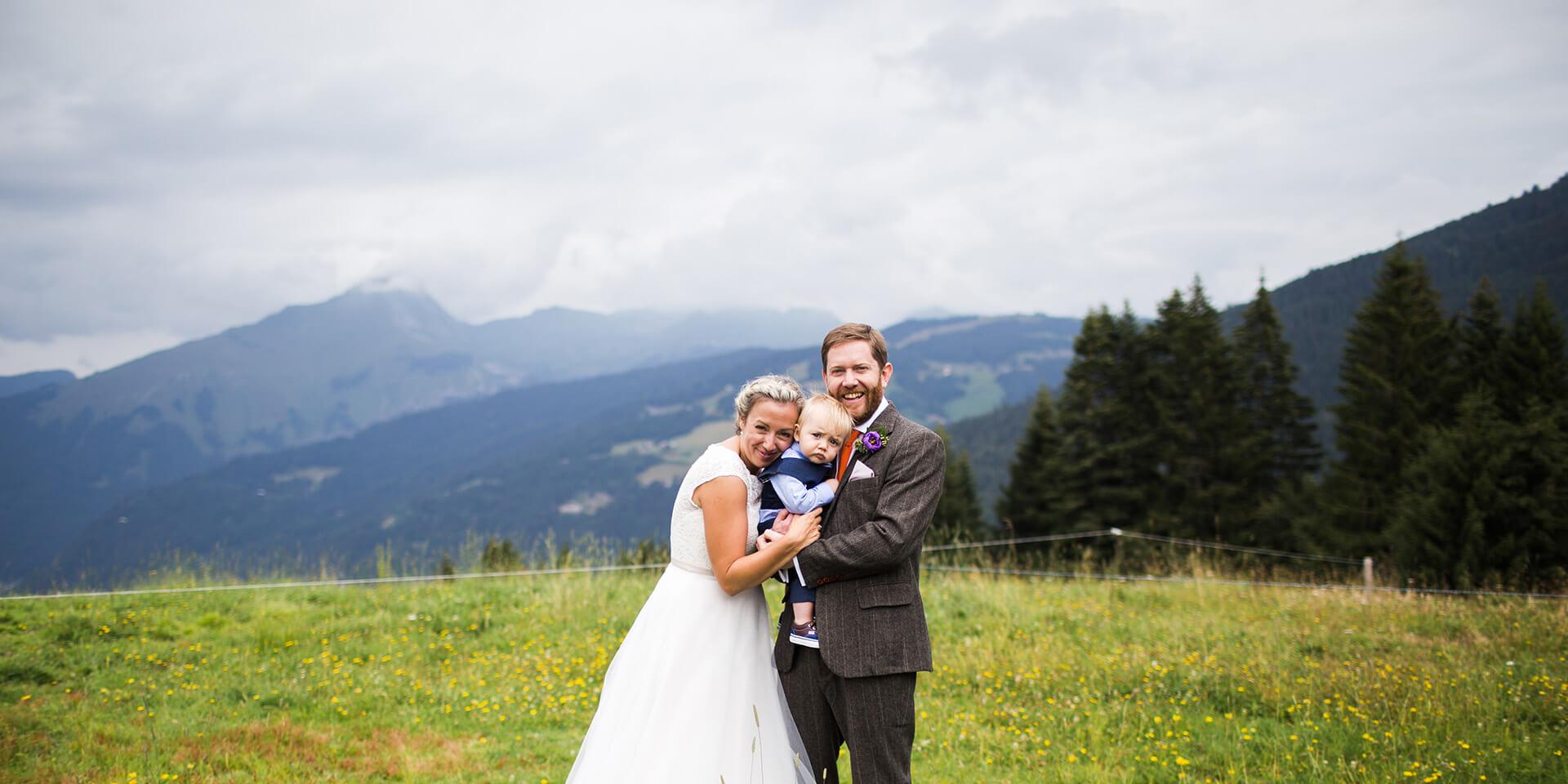wedding in pointe de nyon at morzine