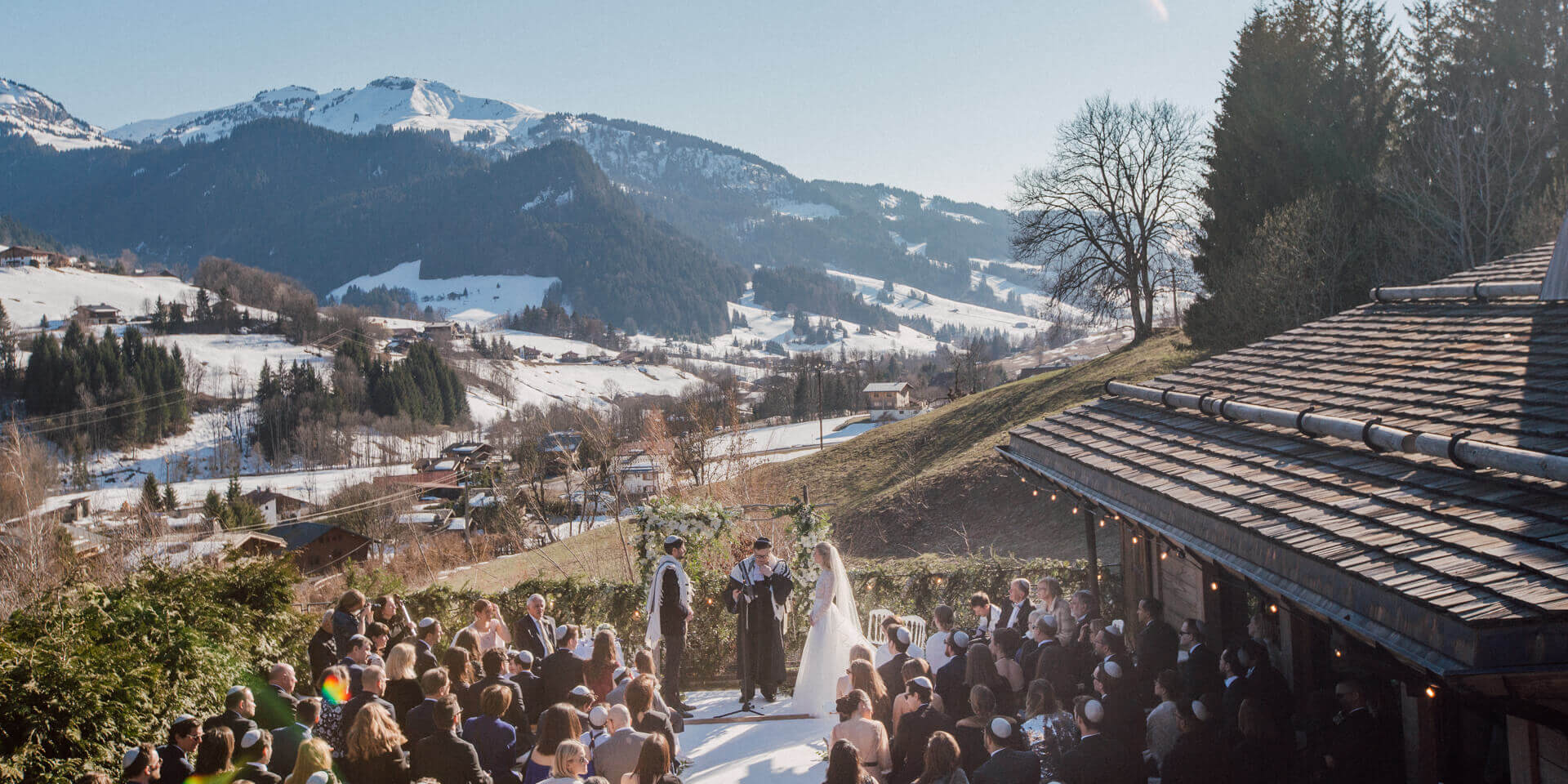 winter wedding in megeve at alpaga hotel