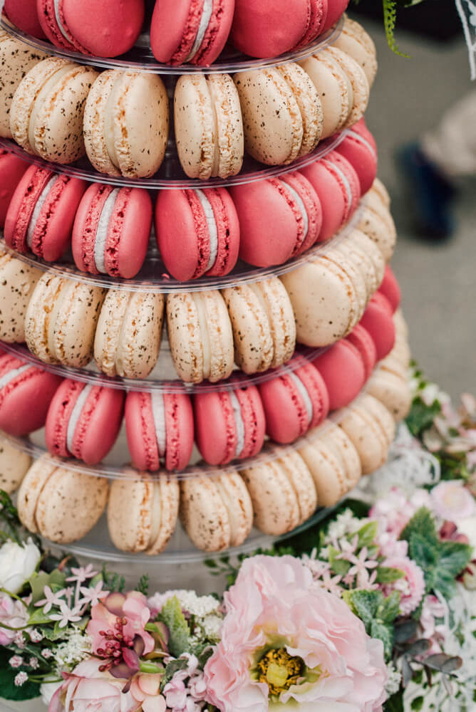 Macaron Tower French Twist On The Traditional Wedding Cake