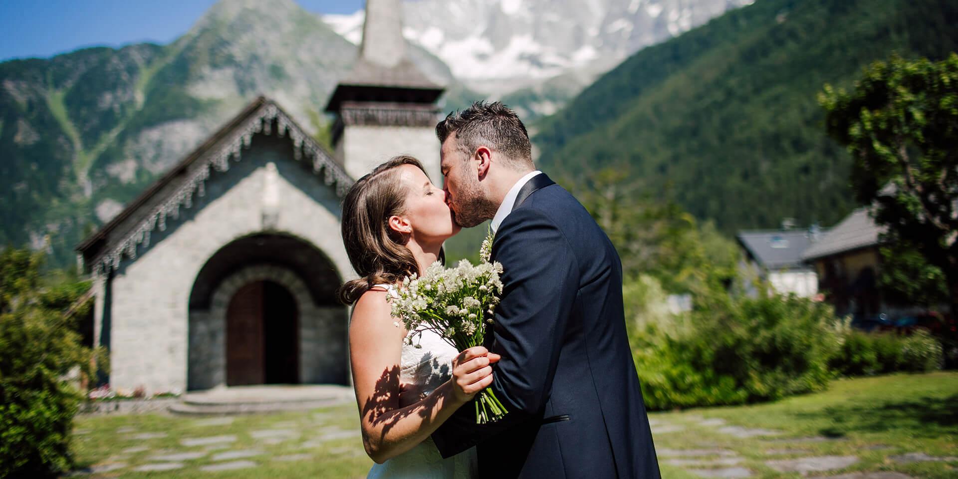 intimate destination wedding in chamonix french alps