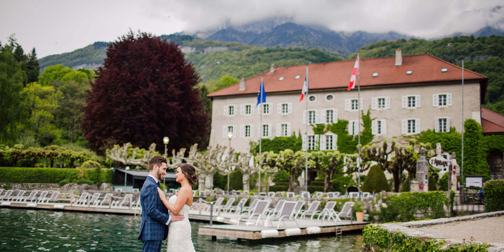 wedding in abbaye de talloires at lakeannecy
