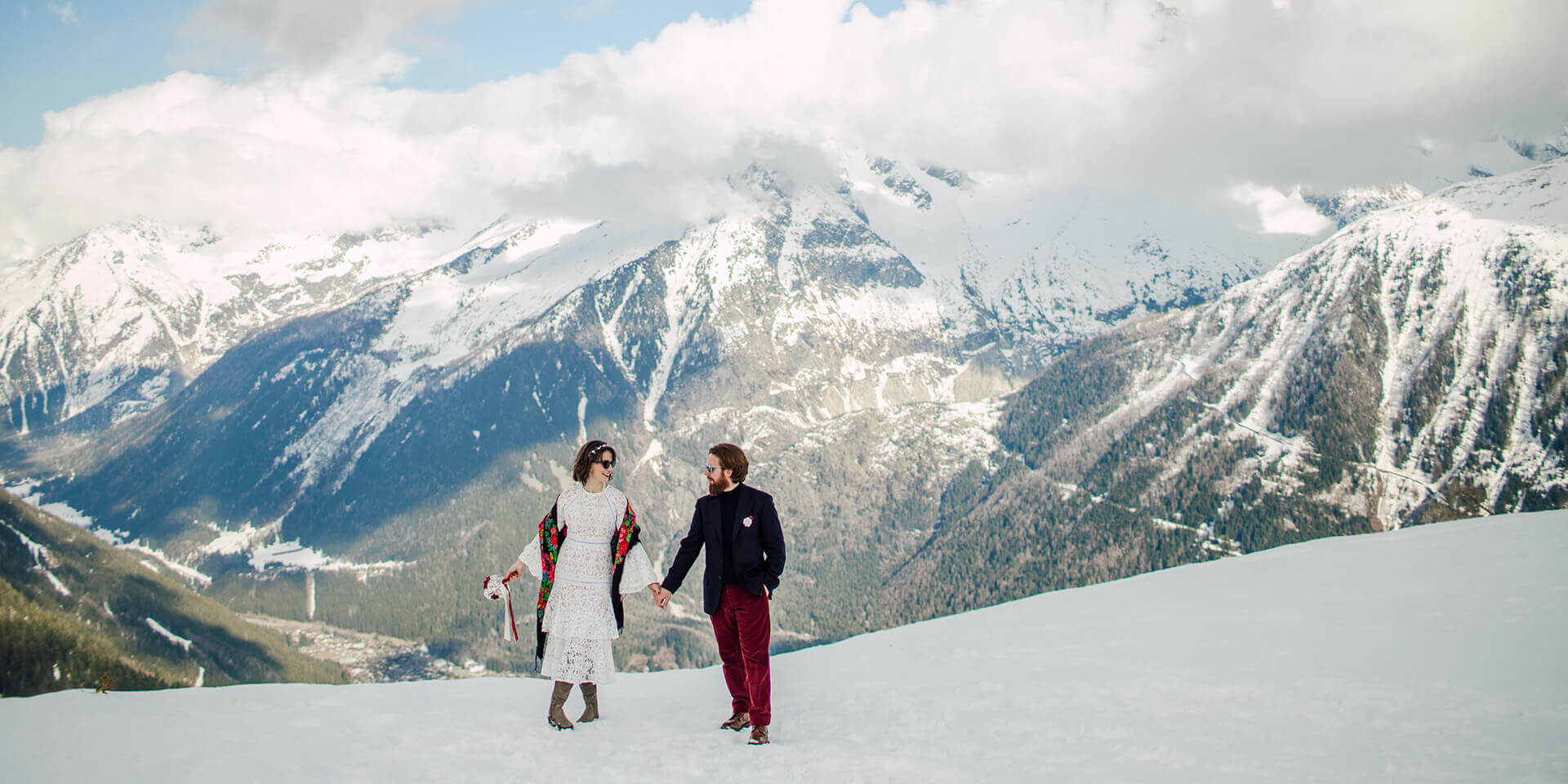 winter wedding in chamonix - granges d'en haut